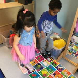Child care kids learning alphabets