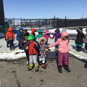 Outdoor play for daycare kids